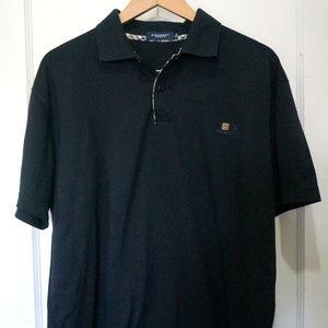 Mens Burberry Black Polo Shirt Size XXL